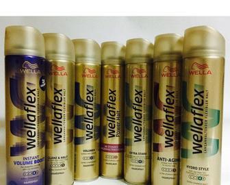 Средства для стайлинга волос торговой марки Wellaflex 400мл