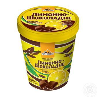 Мороженое Лимоно-шоколадное Три Медведя 500 г