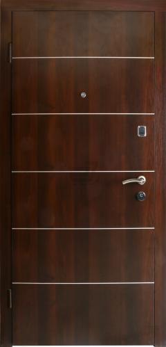 Двері вхідні Новый Мир Лідер-3 ПМЛ-16 горіх темний 2040x880 мм ліві