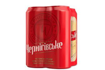 Пиво «Чернігівське» світле, мультипак, 4×0,5л