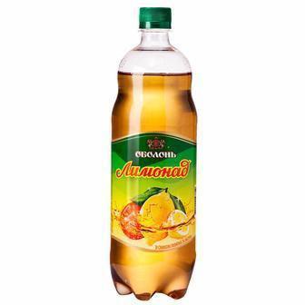 Напиток Лимонад со вкусом лимона и яблока сильногазированый Оболонь, 2л