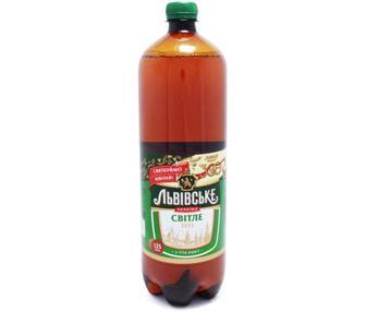 Пиво світле «Львівське» 1,25 л