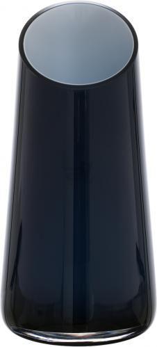 Ваза зі скошеним краєм Maestro скляна колір: опал, темно-синій 16,5x34 см Wrzesniak Glassworks