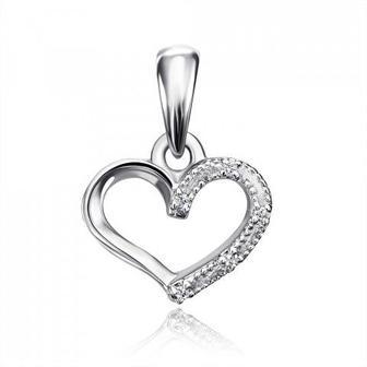 Золотая подвеска «Сердце» с бриллиантами. Артикул 53912/0.8б l