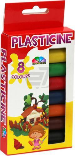 Скидка 18% ▷ Пластилін Фантазія 8 кольорів 112 г 331042 Гамма