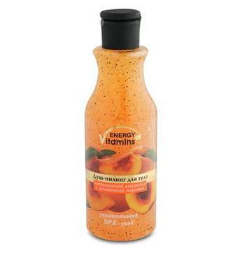 Душ-пілінг Energy of Vitamins Вітамінний коктейль з кісточкою персика 250мл