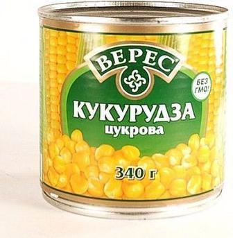 Кукурудза консервована Верес, 420г