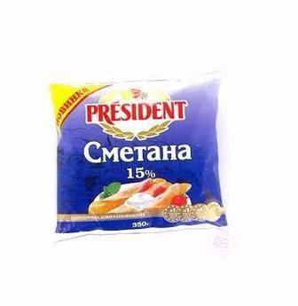 Сметана President 15% 350 г
