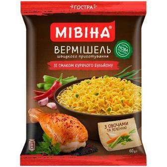 Вермішель Мівіна зі смаком курячого бульйону 60г