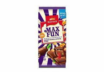 Шоколад Max Fun з арахісом або попкорном Корона 160 г