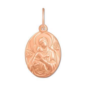 Золотая подвеска-иконка Божией Матери «Владимирская».Артикул 30757