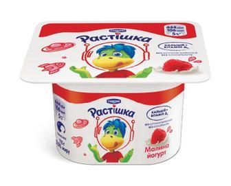 Йогурт «Растишка» з наповнювачем малина, 2% жиру, 115г