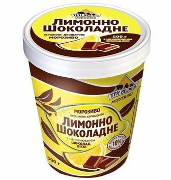 Морозиво Фісташка , Лимон шоколад, Три Ведмеді, 500г