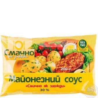 Майонезний соус Смачно 30% 200г