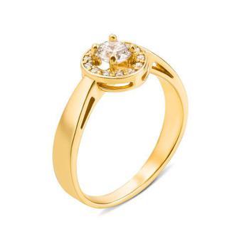 Золотое кольцо с фианитами. Артикул 12140/eu сп