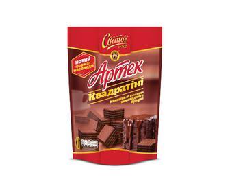 Вафлі «Світоч» «Артек Квадратіні» зі смаком шоколадного брауні, 133 г