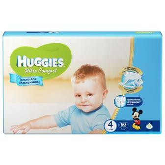 Подгузники Huggies Ultra Comfort 4 Mega для мальчиков 3,4,5 60-80 шт.