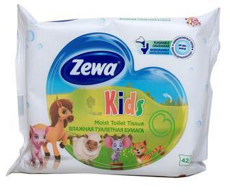 Папір туалетний вологий Zewa Kids, 42шт/уп