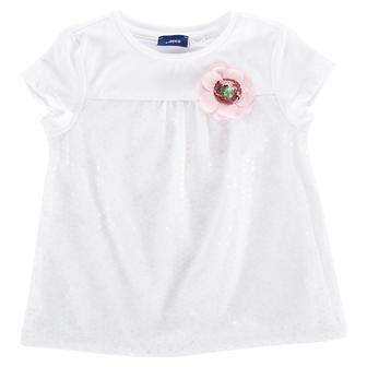 """Белая футболка """"Funny"""" с круглым вырезом горловины"""