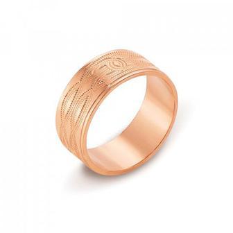 Обручальное кольцо с алмазной гранью. Артикул 10101/11