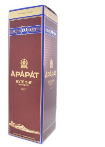 Коньяк АРАРАТ Ахтамар 10лет в коробці, 0,7 л