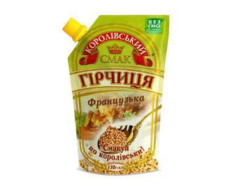 Гірчиця «Королівський смак» «Французька» з зернами, 130г