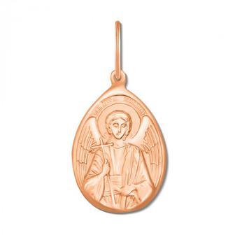 Золотая подвеска-икона Ангел Хранитель Артикул 30776