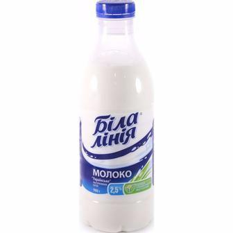Молоко 2,5% пастеризоване   Біла лінія, 900 г