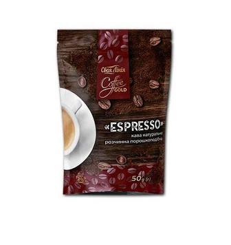 Кава Espresso натуральна розчинна порошкоподібна Своя Лінія 50 г