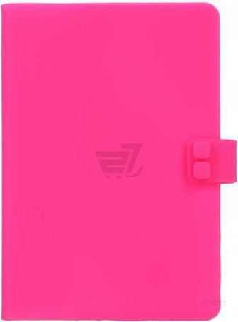 Книга для нотаток силіконова Рожевий неон А6 100 арк.
