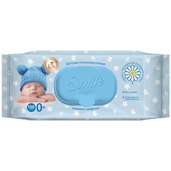 Серветки Smile baby вологі 100шт