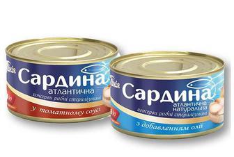 Консерви Сардина атлантична, в томатному соусі/ натуральна з добавленням олії/ Своя Лінія 240 г