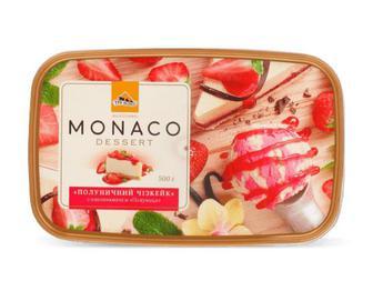 Скидка 42% ▷ Морозиво «Три ведмеді» Monaco Dessert «Полуничний чізкейк» 500г