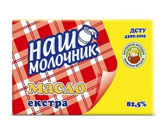 Скидка 27% ▷ Масло вершкове ДСТУ 82,5% жиру «Наш молочник» 200г