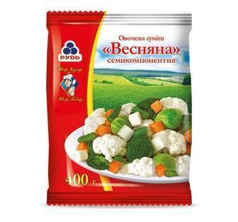 Суміш овочева Весняна Рудь 400г