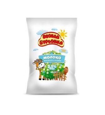 Молоко Весела Бурьонка 2,5% 900 г