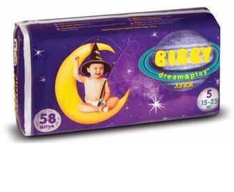 Детские подгузники Bibby Dream&Play Junior Повна Чаша, 58 шт