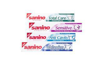 Зубна паста Комплексний догляд, Захист від карієсу, Захист для чутли- вих зубів, Білосніжна посмішка Саніно 100 мл