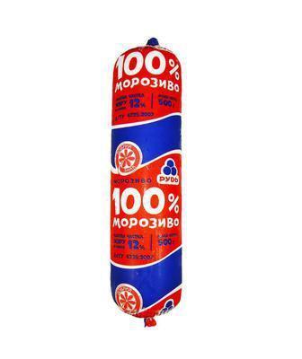 Морозиво пломбір 100% Рудь 1 кг
