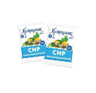 Сыр кисломолочный Хуторок 10%, 200 г