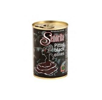 Маслини Senorita чорні без кісточки/з кісточкою 420мл