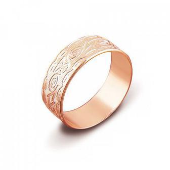 Обручальное кольцо с алмазной гранью. Артикул 1070/9