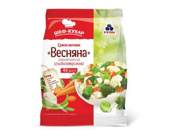 Суміш овочева «Весняна» семикомпонентна «Рудь» 400 г