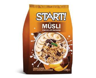 Мюслі Start з шоколадом та бананом, 330г
