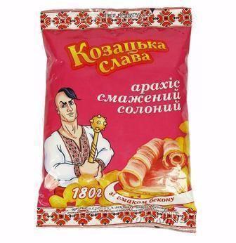 Горішки солоні до пива, зі см. бекону Козацька слава , 180 г
