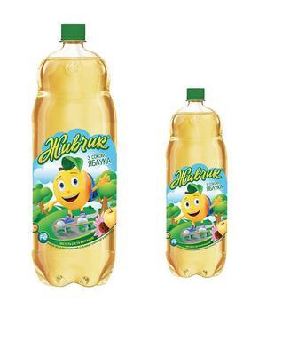 Напій газований/негазований з соком яблука Живчик 2л