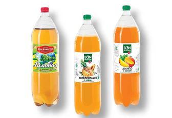 Напій сильногазований лимонад / мультивітамін з соком / манго з соком, Бон Буассон 2 л