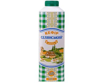 Кефір 2,5% жиру «Селянський» 950г