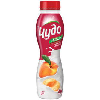Йогурт Чудо 2,5% персик-абрикос 270мл
