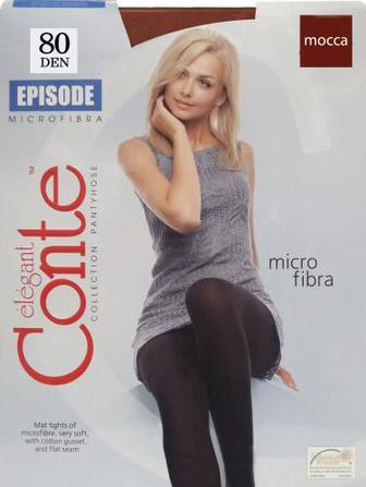 Скидка 20% ▷ Колготки Conte EPISODE 80 den mocca р. 5 темно-коричневий